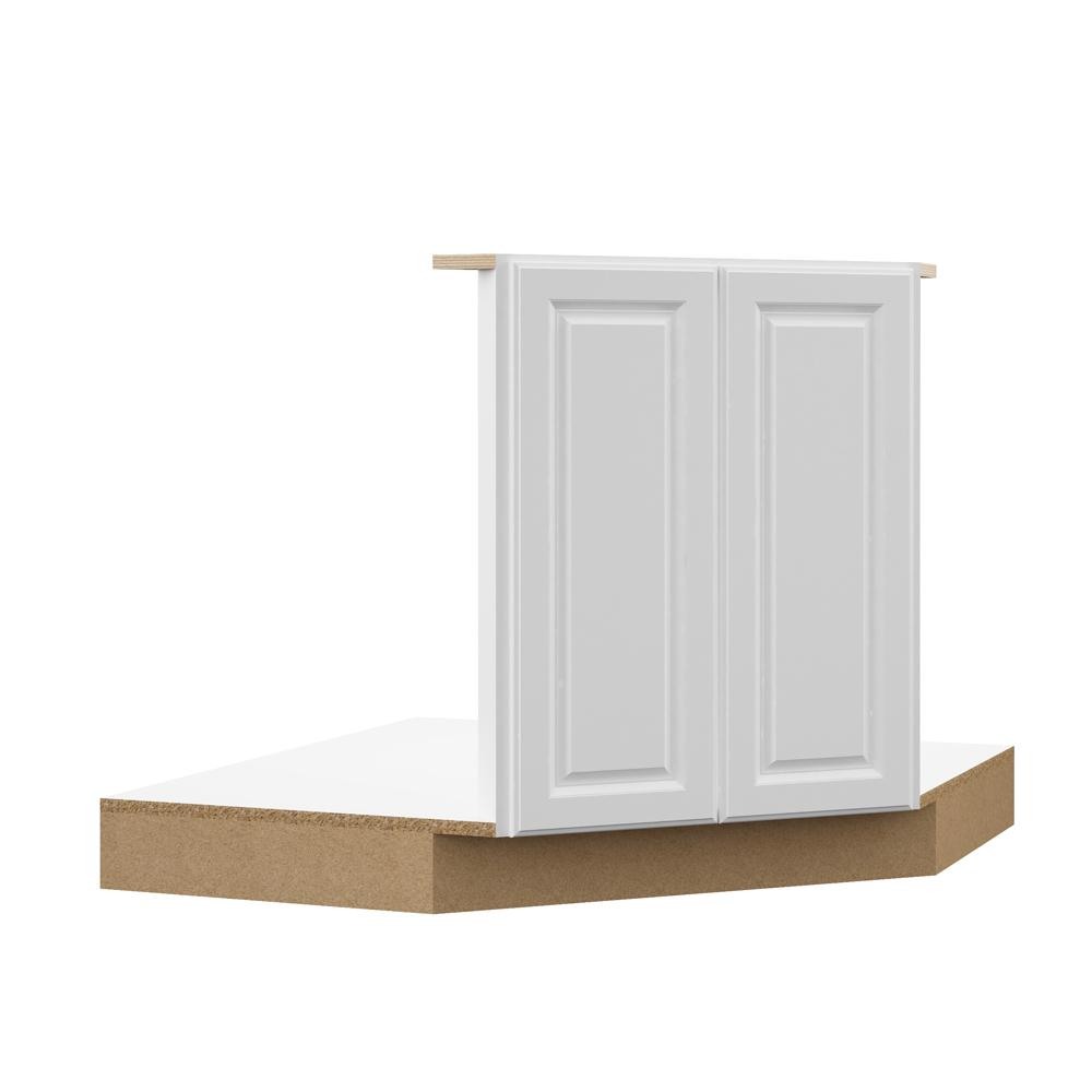 Hampton Bay Designer Series Elgin Embled 42x34 5x23 75 In Corner Sink Base