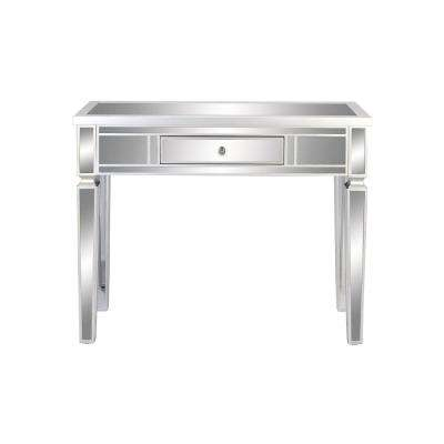 Beau Art Decor Reflective Silver 1 Drawer Console Table