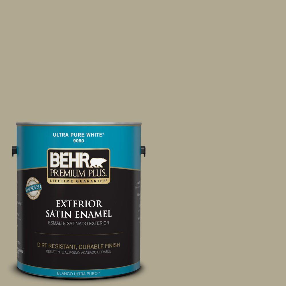 1-gal. #BXC-22 Field Khaki Satin Enamel Exterior Paint