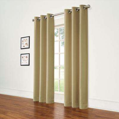 Brown Curtains Window Treatments The Home Depot