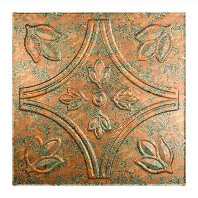 Traditional 5 - 2 ft. x 2 ft. Lay-in Ceiling Tile in Copper Fantasy