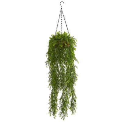 3 ft. Indoor Willow Artificial Plant Hanging Basket