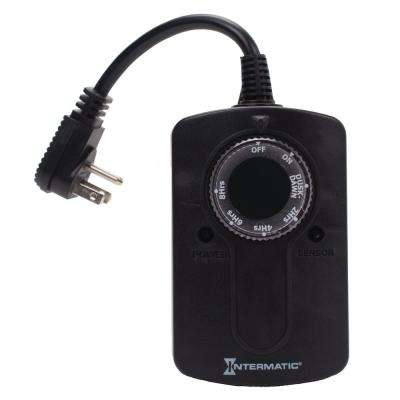 1000-Watt Outdoor Timer with Photocell Light Sensor for Christmas Lights and Decorations
