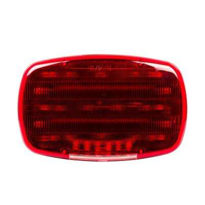 Warning Light 6-1/4 in. LED Triple Function Emergency Lamp Red with Magnetic Base