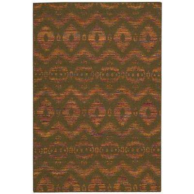 Spectrum Flame/Chocolate 8 ft. x 11 ft. Area Rug