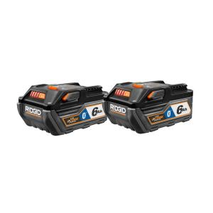 Deals on 2-Pack RIDGID 18-Volt HYPER OCTANE Bluetooth 6.0Ah Battery