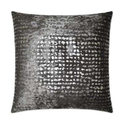 Stealth Pewter Feather Down 24 in. x 24 in. Standard Decorative Throw Pillow