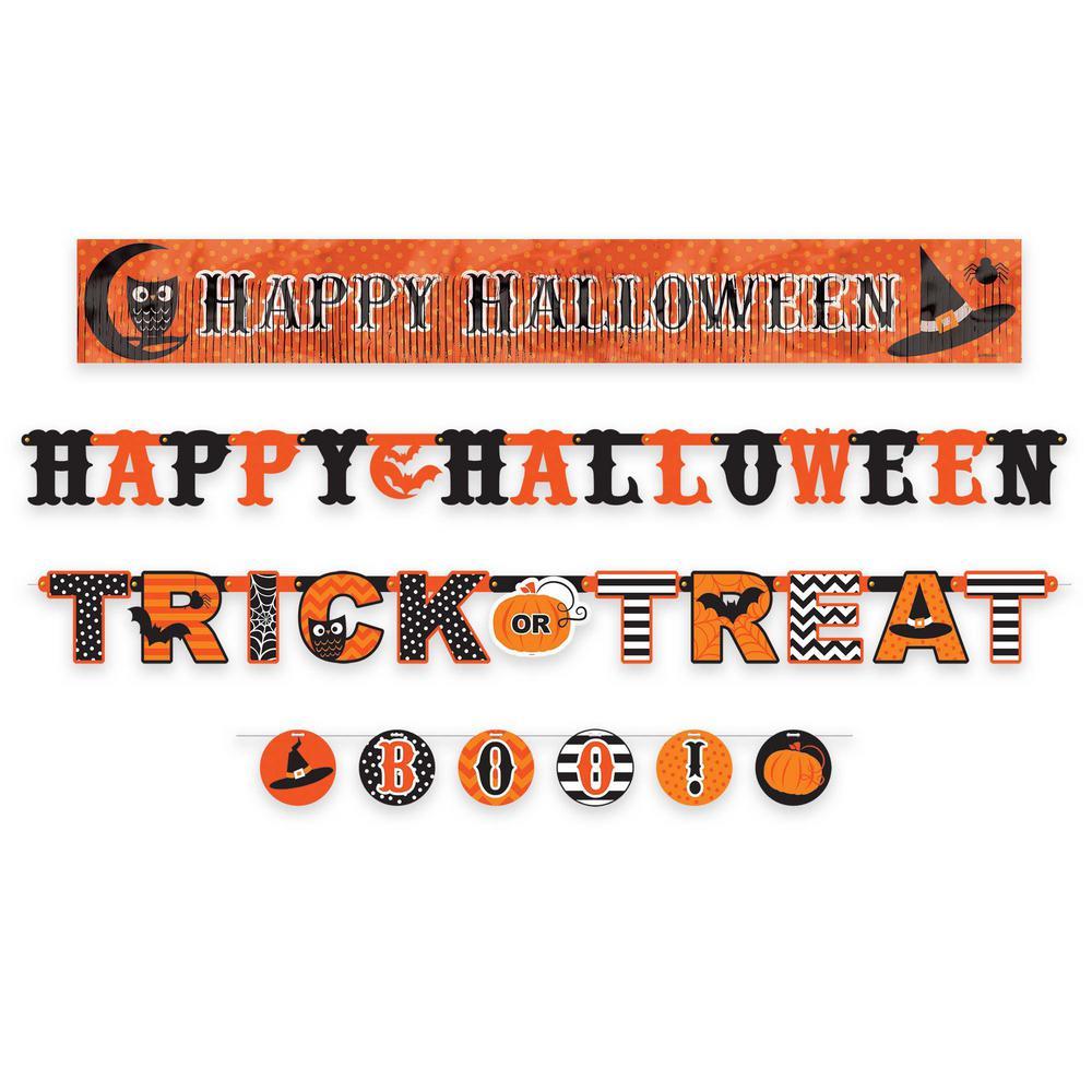 Halloween Modern Multi Banner Value Pack (4-Count, 2-Pack)