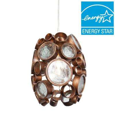 Fascination 1-Light Hammered Ore Mini Pendant