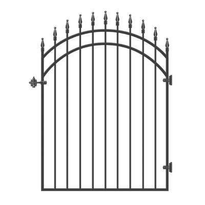45 in. x 68 in. Diamond Tipped Gate Door with Arched External Rail for 48 in. Openings (Hardware included)
