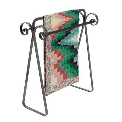 Hammered Steel Handcrafted Scroll Quilt Rack
