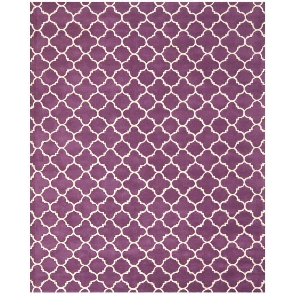 Chatham Purple/Ivory 10 ft. x 14 ft. Area Rug