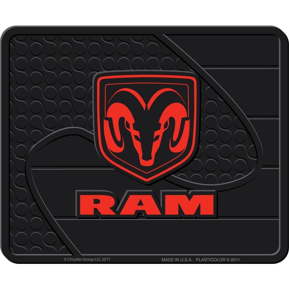 Ram Heavy Duty Vinyl 17 in. x 14 in. Utility Car Mat
