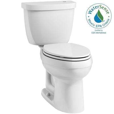Cimarron Touchless Comfort Height Complete Solution 2-Piece 1.28 GPF Elongated Toilet with AquaPiston in White