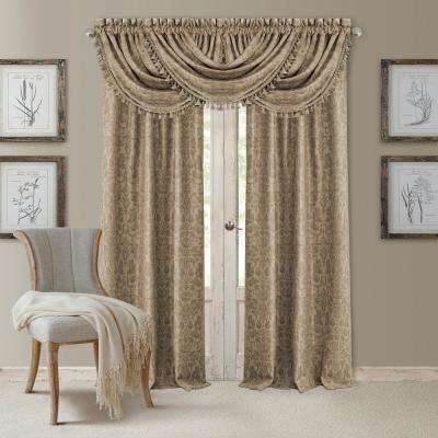 Blackout Antonia Taupe Blackout Rod Pocket Window Panel - 52 in. W x 84 in. L