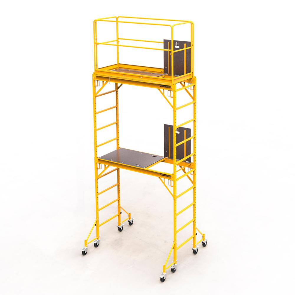 MetalTech Safeclimb Baker Style 12 ft. x 6.1 ft. x 2.5 ft. Steel Scaffold Tower with 1000 lbs. Load Capacity