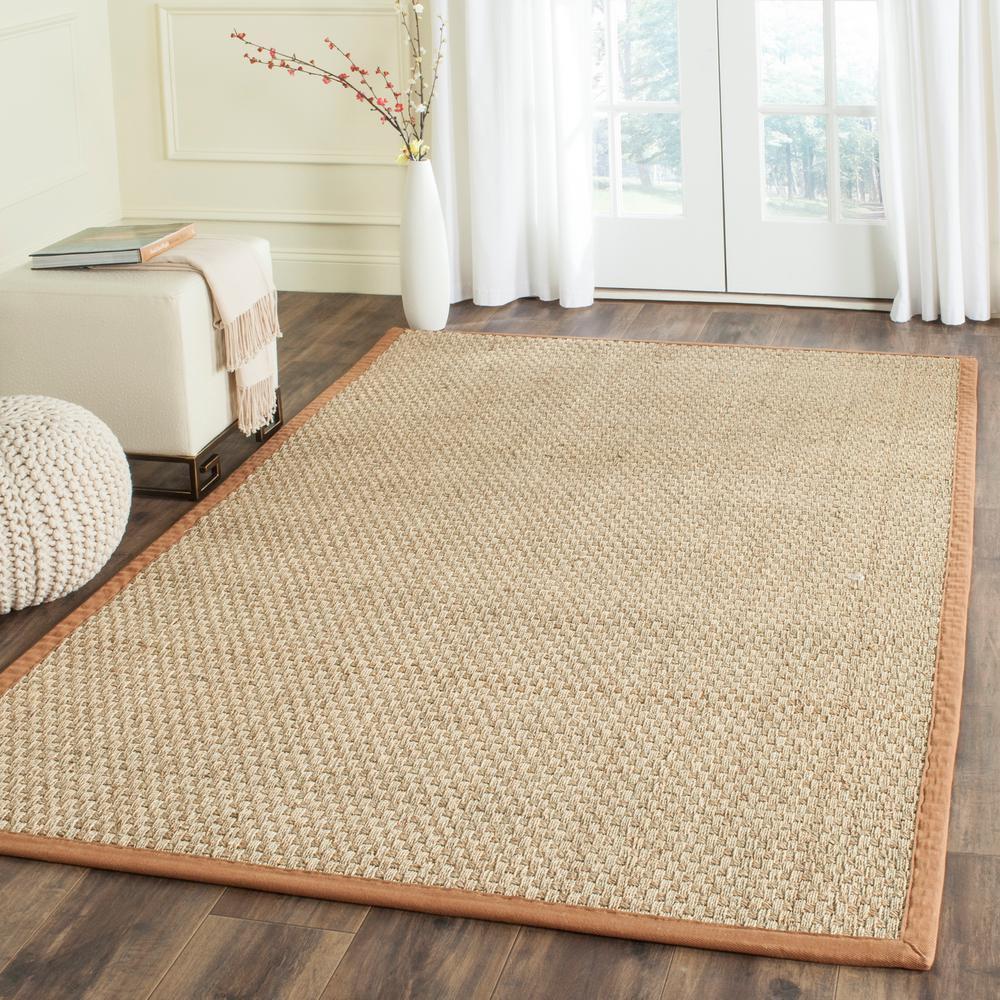 Safavieh Natural Fiber Beige/Brown 8 ft. x 10 ft. Area Rug