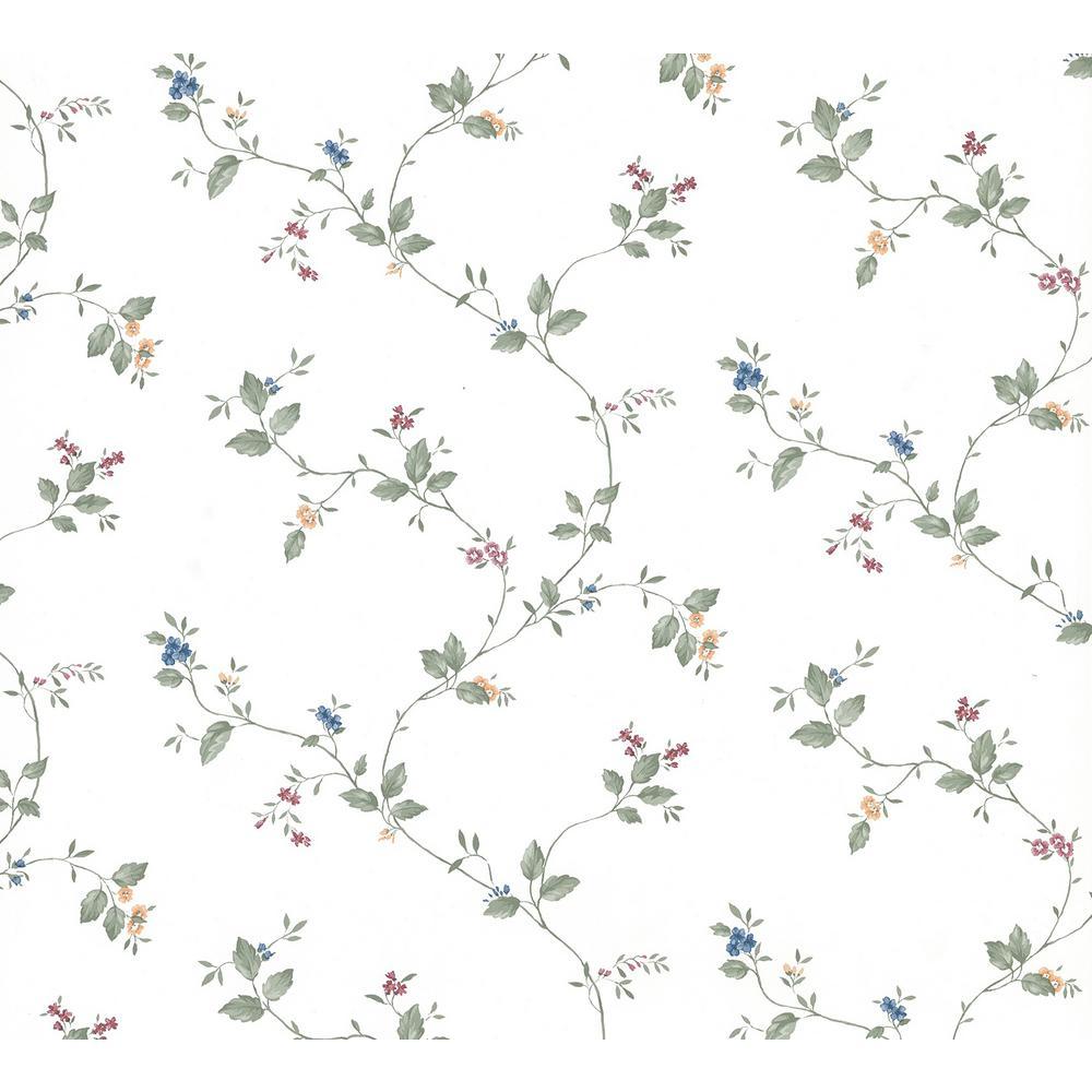 Ree Multicolor Mini Floral Trail Wallpaper