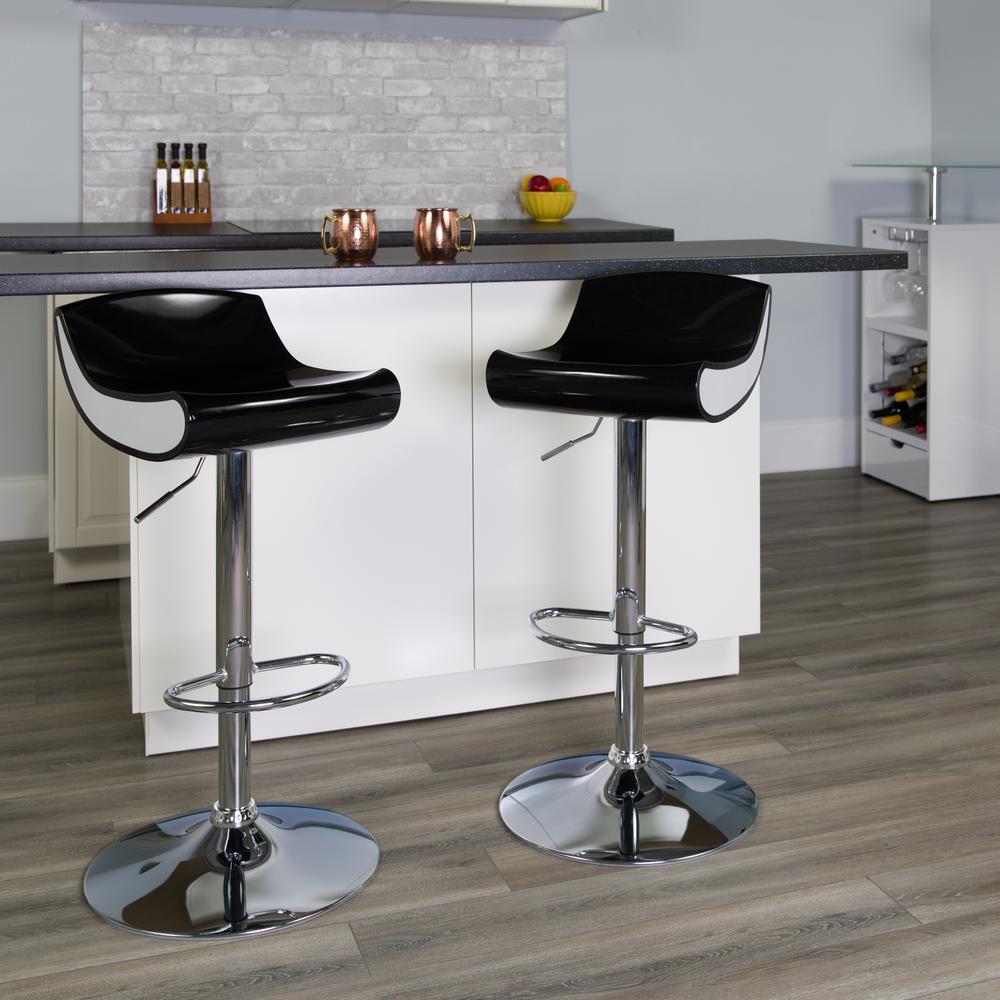 Flash Furniture Adjustable Height Chrome Bar Stool CH101010BK