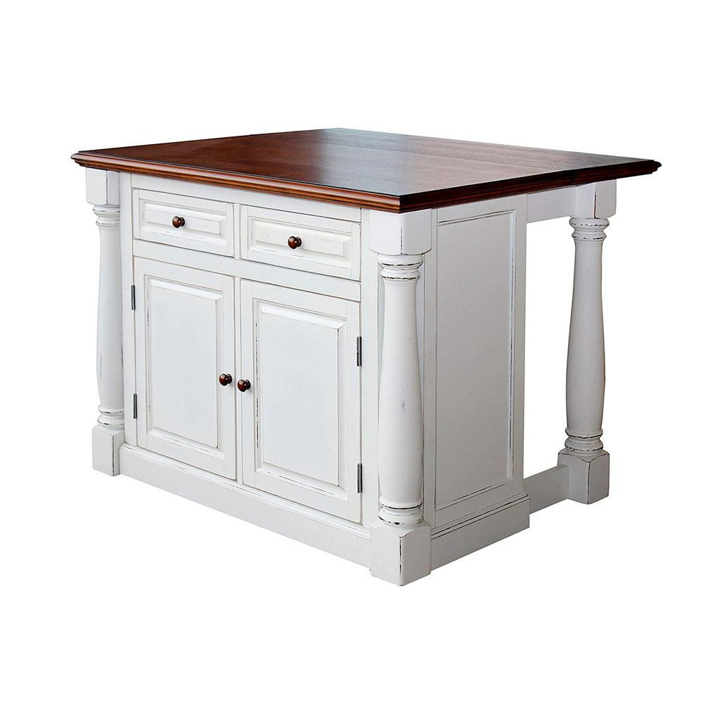 kitchen islands with drop leaf home styles monarch white kitchen island with drop leaf 5020 94 the home depot 637