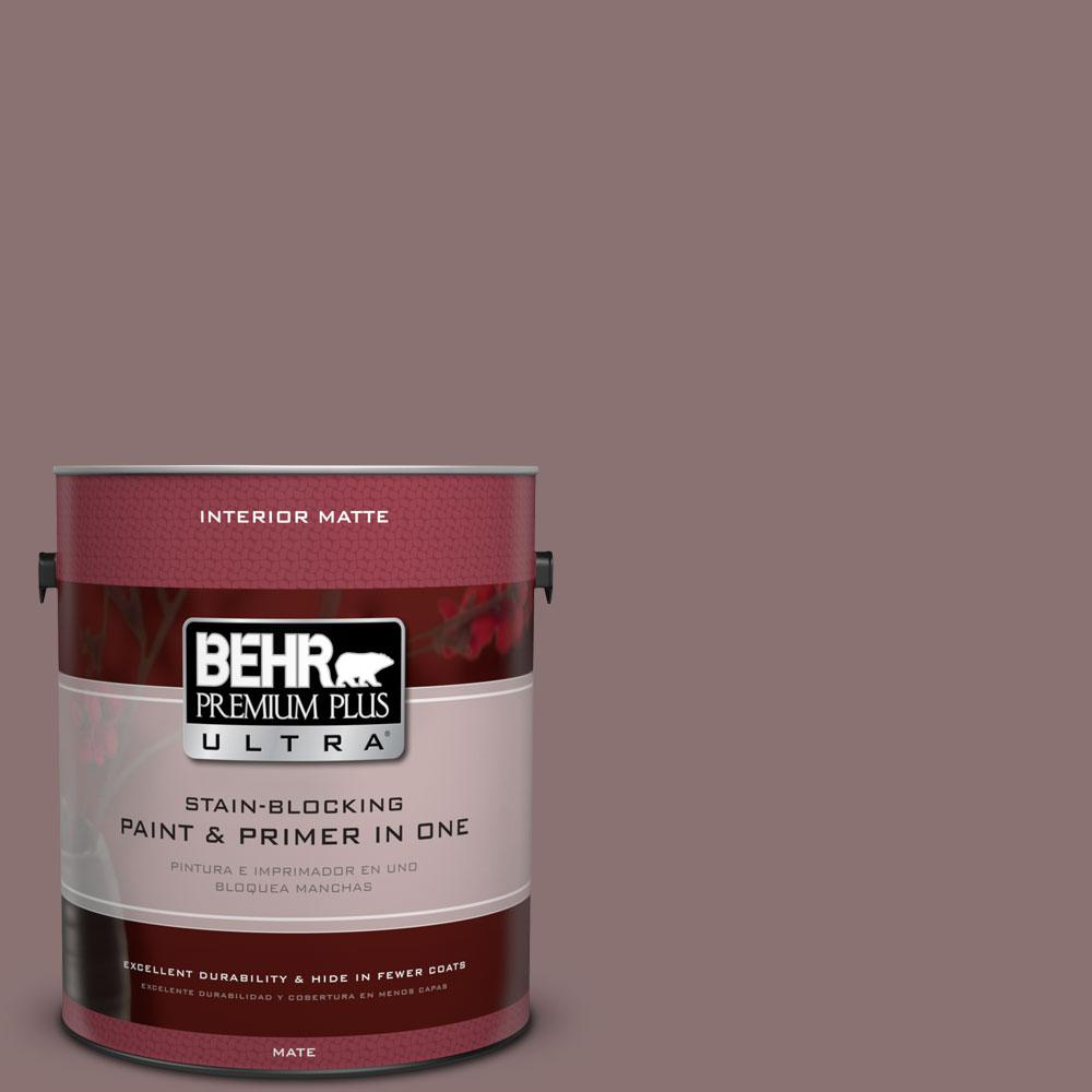 BEHR Premium Plus Ultra Home Decorators Collection 1 gal. #HDC-AC-28 Smokey Claret Flat/Matte Interior Paint