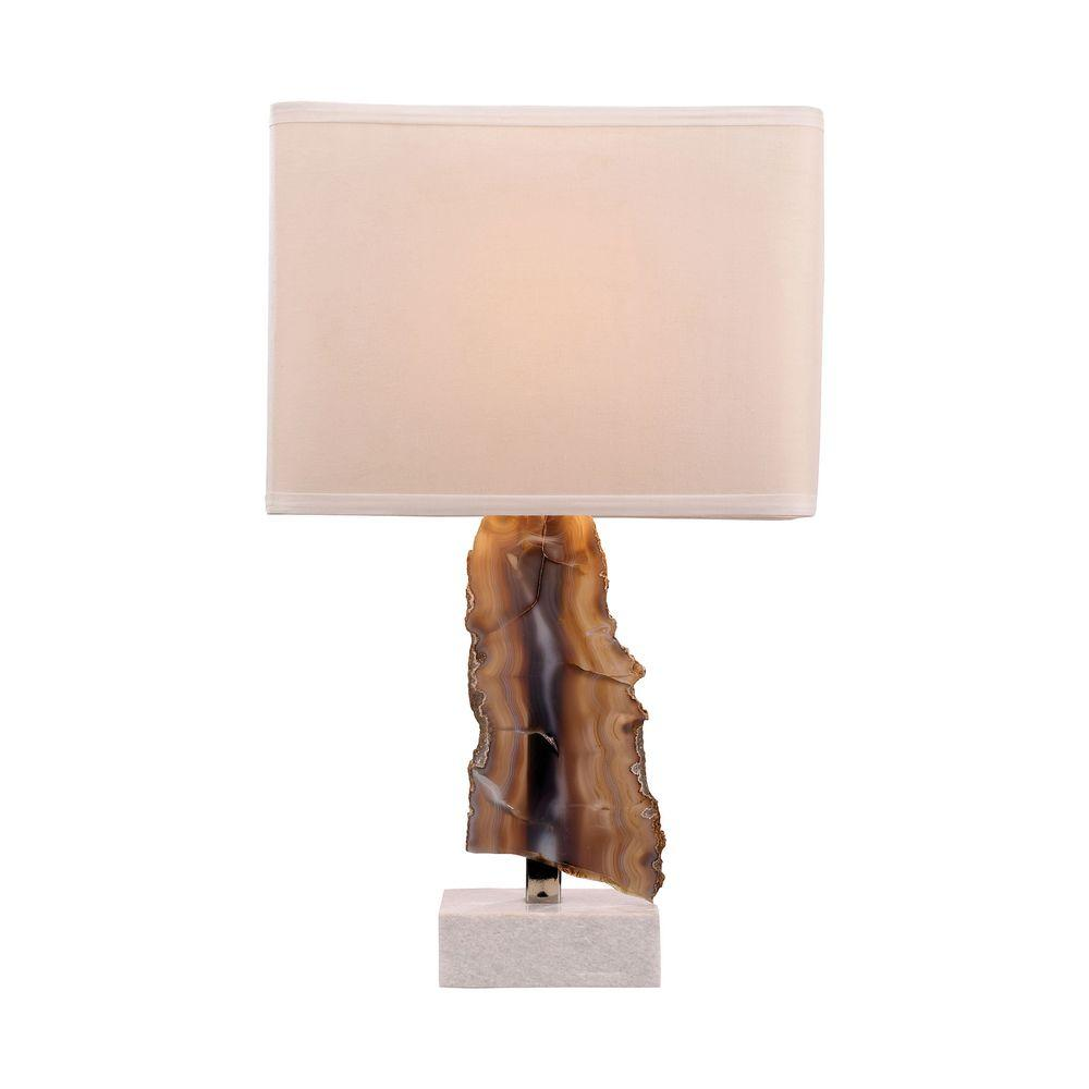 Titan Lighting Minoa 28 in. Natural Agate and Marble Table Lamp