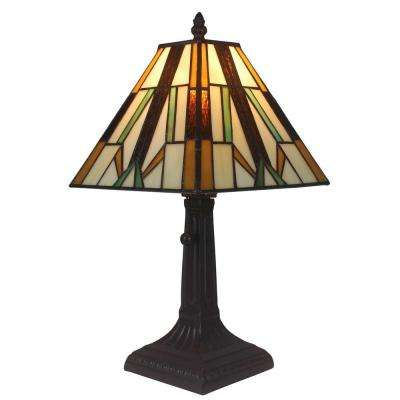 15.5 in. Tiffany Style Mission Table Lamp