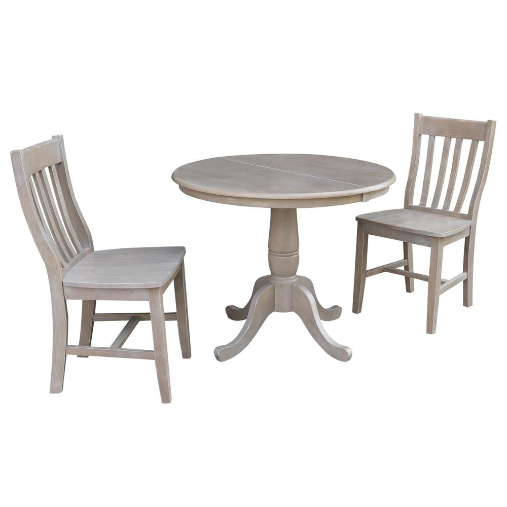 International Concepts Laurel 3-Piece Oval Weathered Gray...