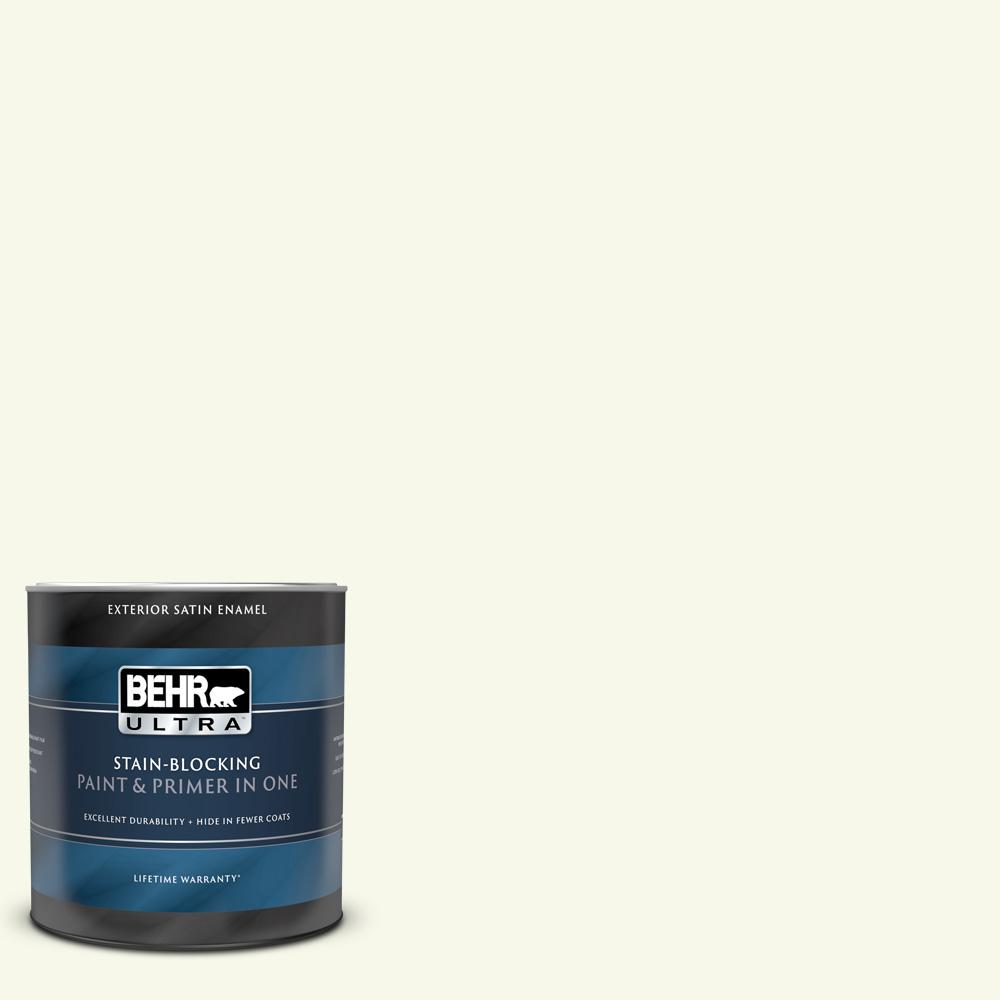 Behr Ultra 1 Qt Bxc 86 Elderflower Satin Enamel Exterior Paint And Primer In One 985004 The Home Depot