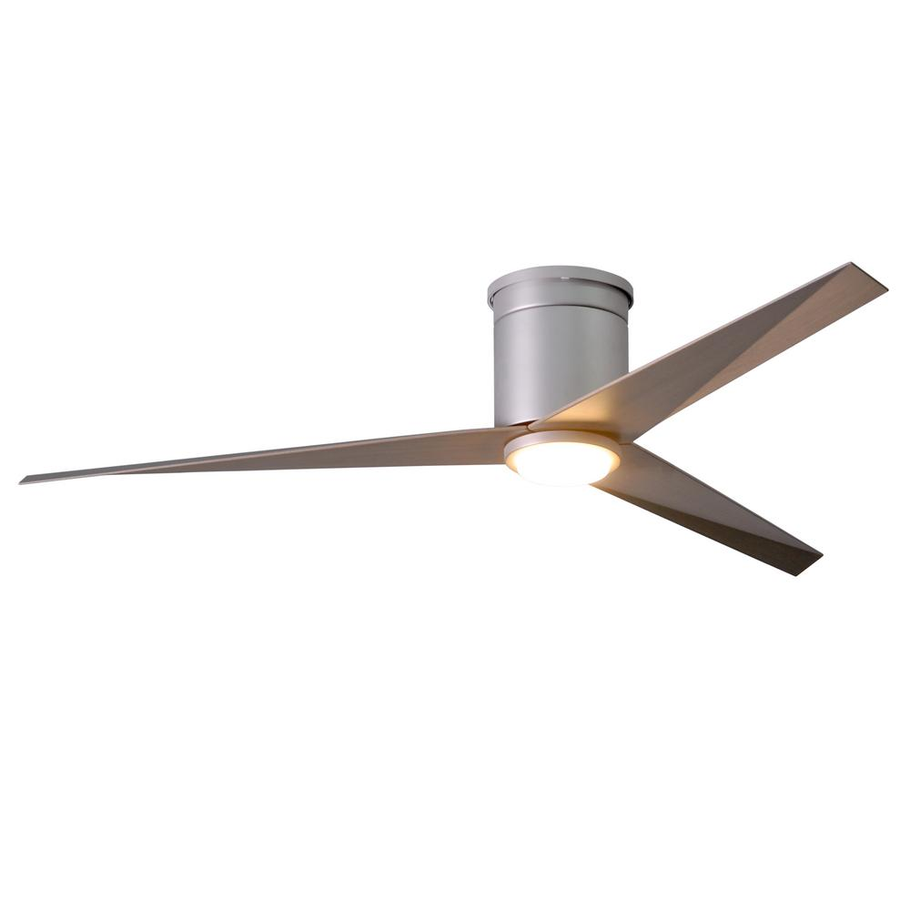 Eliza 56 in. LED Indoor/Outdoor Damp Brushed Nickel Ceiling Fan with
