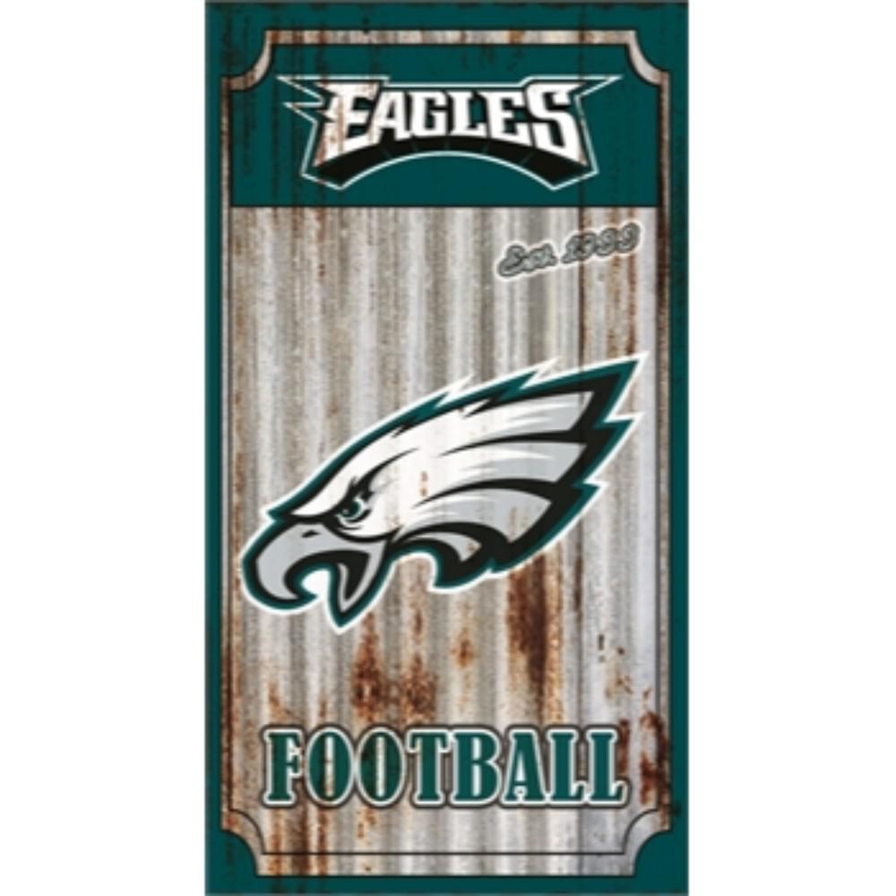 Team Sports America Philadelphia Eagles Nfl Corrugated Metal Indoor