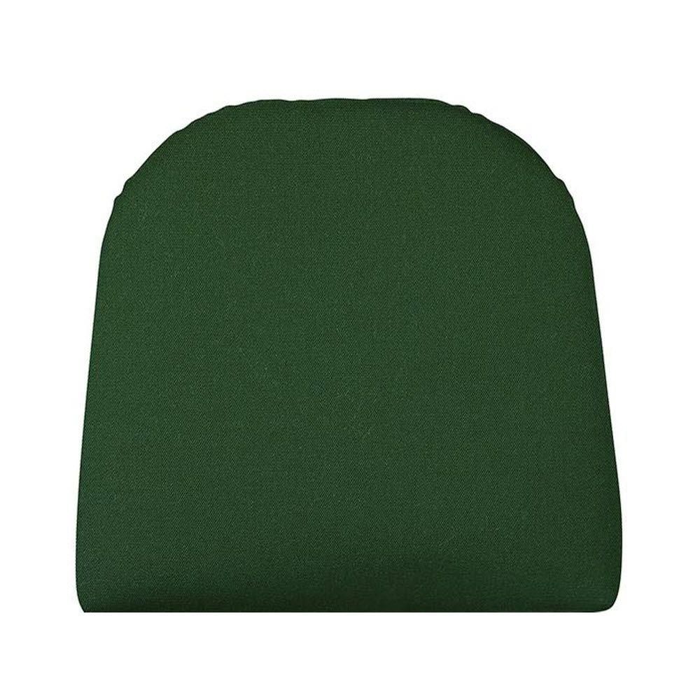 Home Decorators Collection Sunbrella Forest Green Contoured Outdoor Seat Cushion
