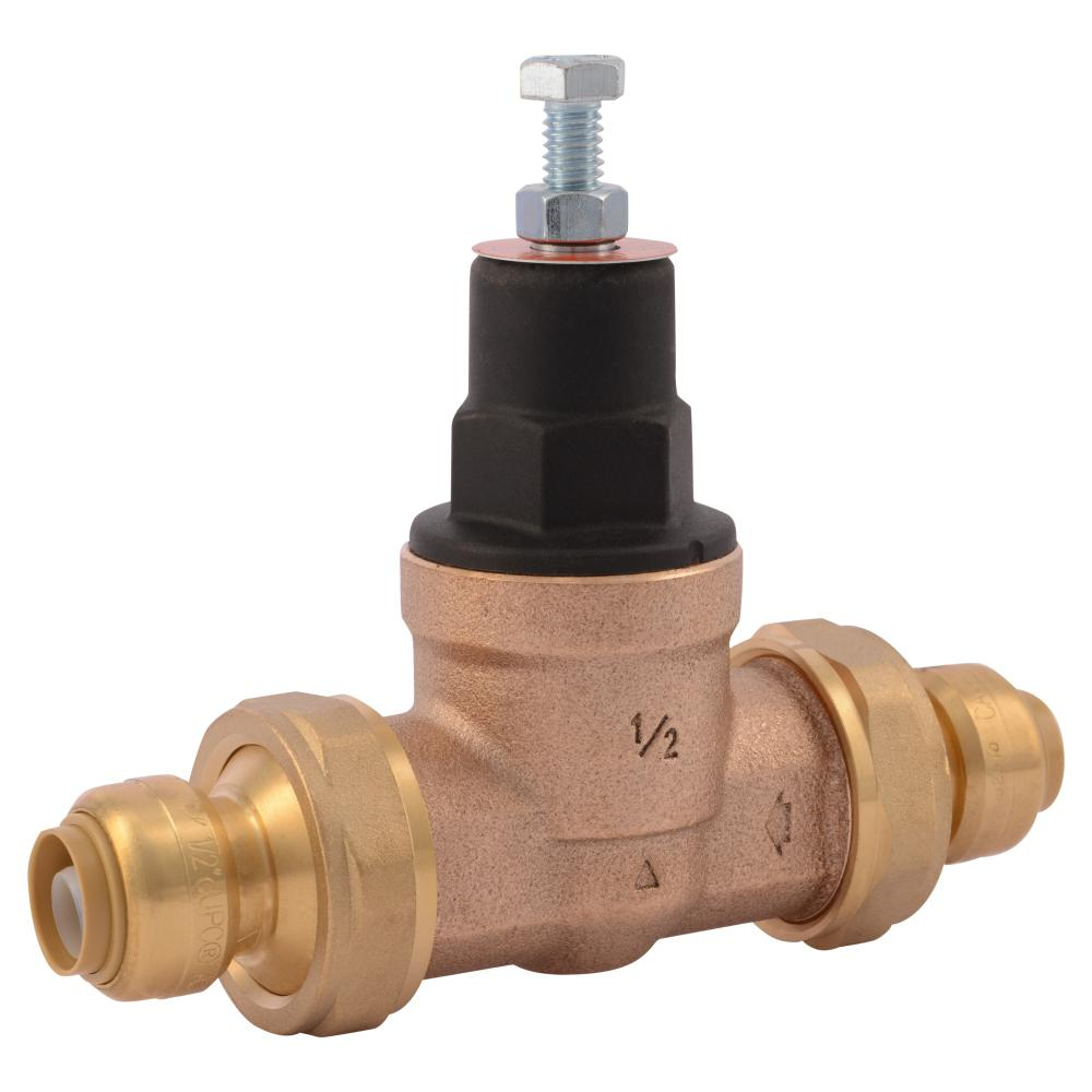 1/2 in. Bronze EB-45 Double Union Push-to-Connect Pressure Regulating Valve
