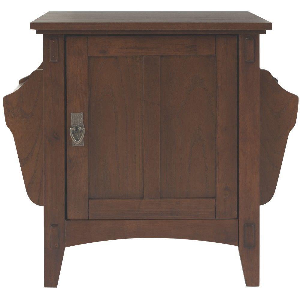 Artisan Dark Oak Storage End Table