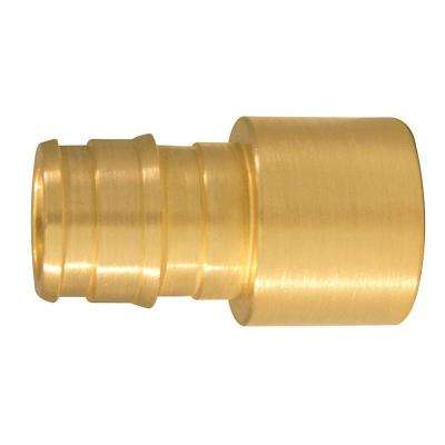 1/2 in. Brass PEX-A Expansion Barb x 1/2 in. Female Sweat Adapter (10-Pack)