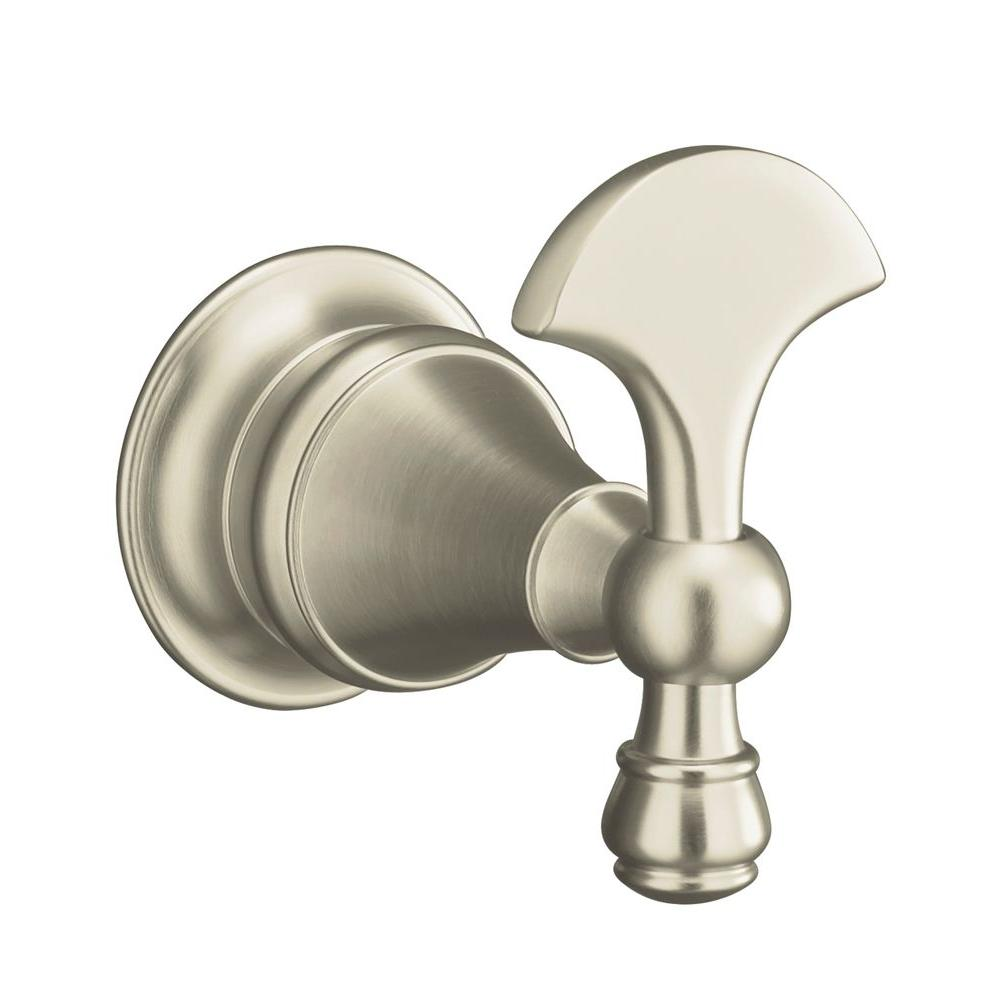 Revival Single Robe Hook in Vibrant Brushed Nickel