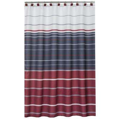 evan 72 in striped shower curtain