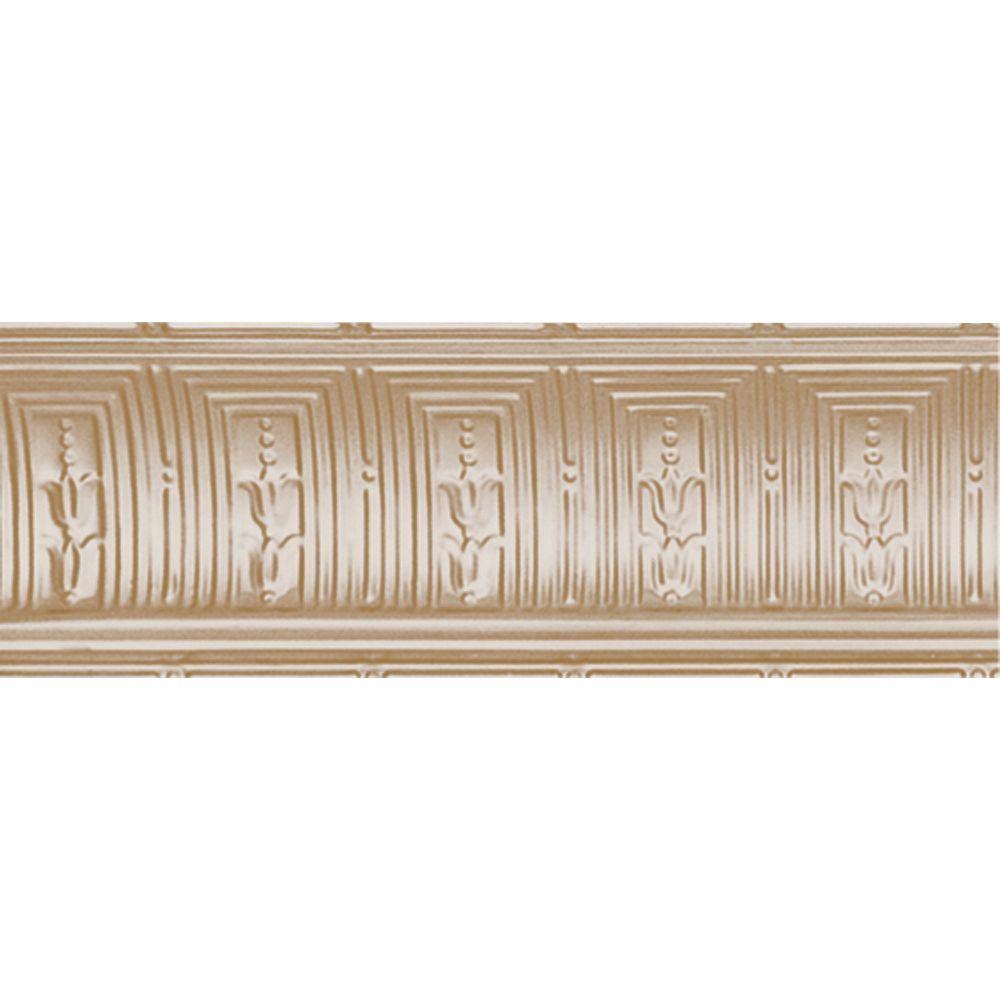 Shanko 8-3/4 in. x 4 ft. x 8-3/4 in. Satin Brass Nail-up/...