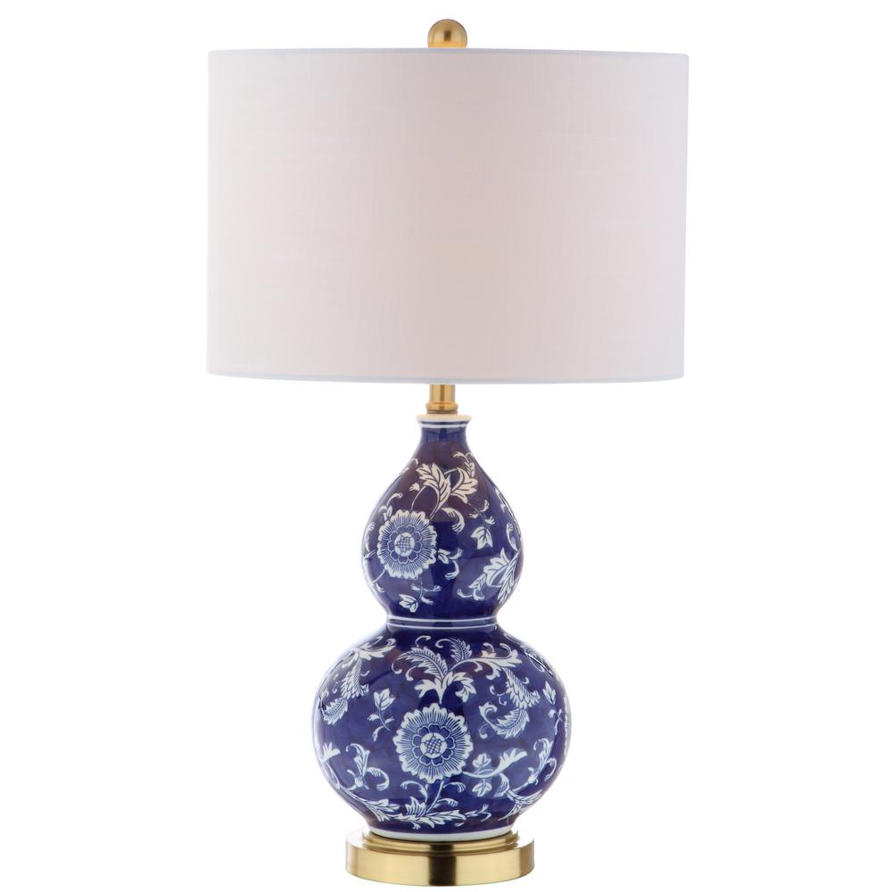 Jonathan Y Lee 27 In H Bluewhite Ceramic Chinoiserie Table Lamp