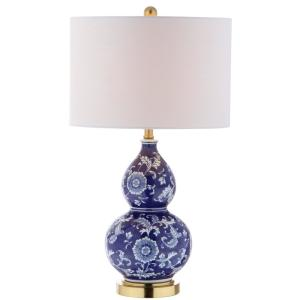 Jonathan y lee 27 in h bluewhite ceramic chinoiserie table lamp h bluewhite ceramic chinoiserie table lamp jyl3003a the home depot mozeypictures Images