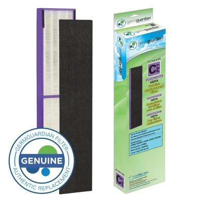 True HEPA with Pet Pure Treatment GENUINE Replacement Filter C for AC5000 Series Air Purifiers