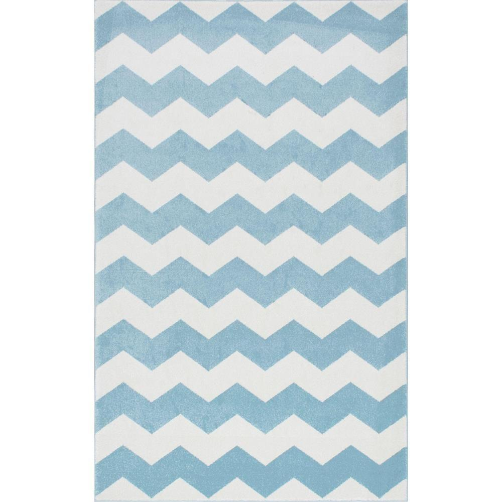 Nuloom Aponte Chevron Light Blue 5 Ft X 8 Area Rug