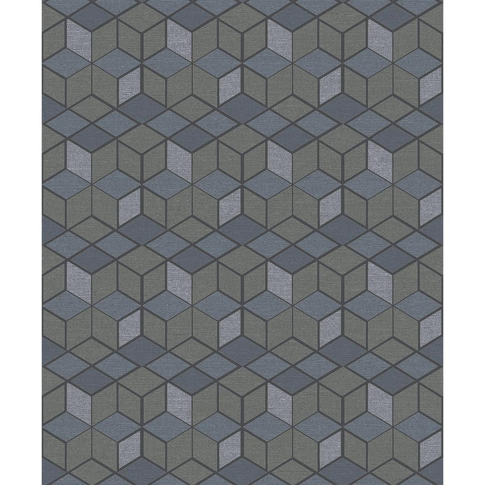 57.8 sq. ft. Joanne Taupe Blox Wallpaper