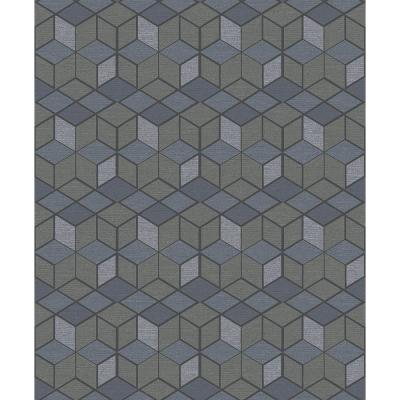 8 in. x 10 in. Joanne Taupe Blox Wallpaper Sample