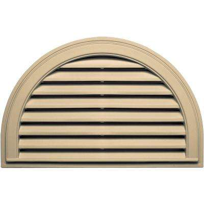 22 in. x 34 in. Half Round Gable Vent in Dark Almond