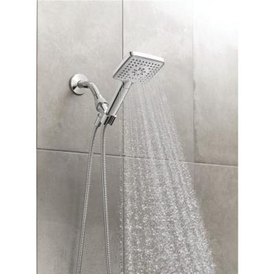 Genta 3-Spray 4 in. Single Wall Mount Handheld Adjustable Shower Head in Chrome
