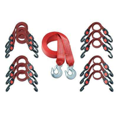 Deluxe Towing and Bungee Strap Kit
