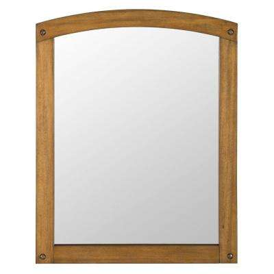 Avondale 31 in. x 24 in. Wall Mirror in Weathered Pine