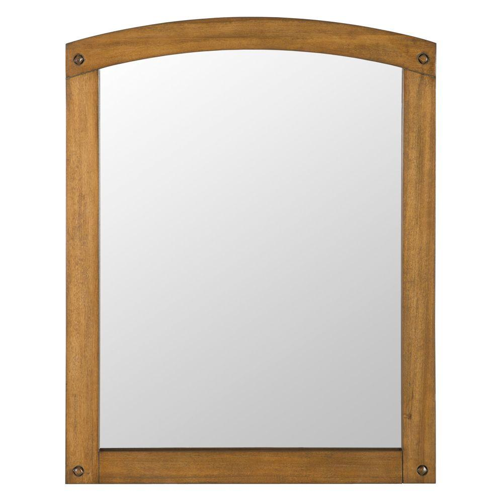 Home Decorators Collection Avondale 31 in. x 24 in. Wall Mirror in Weathered Pine