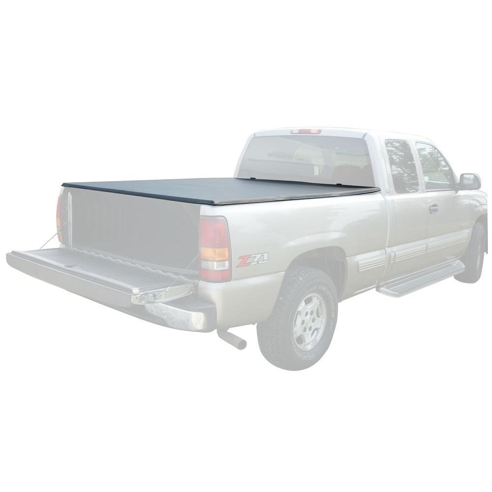 71 in. x 69.5 in. 25 lb. Vinyl Tonneau Truck Bed Cover for GMC Sierra